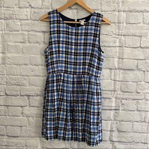 FOREVER 21 Blue Black Plaid Skater Dress
